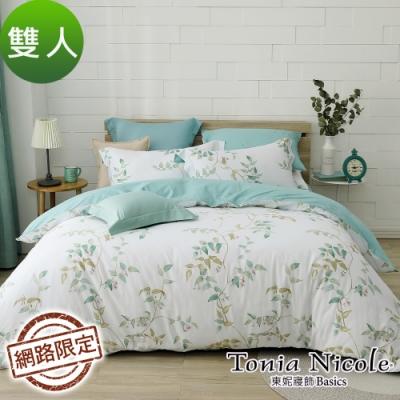 Tonia Nicole東妮寢飾 碧映湖岸100%精梳棉兩用被床包組(雙人)