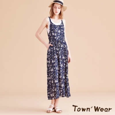 【TOWNWEAR棠葳】夏日滿版花卉連身洋裝