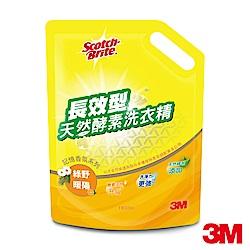 3M 長效型天然酵素洗衣精補充包 (綠野暖陽香氛1600ml)