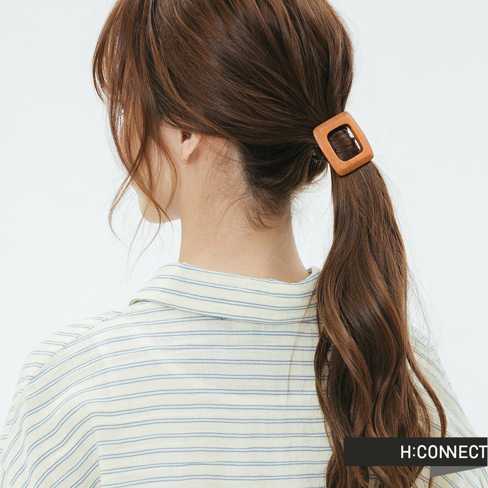H:CONNECT 韓國品牌 -木紋方形髮圈組