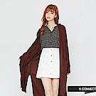 H:CONNECT 韓國品牌 女裝-開襟雙口袋長版針織外套-紅