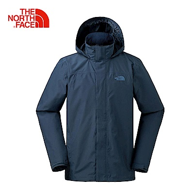 The North Face北面男款藍色防水透氣防風外套|3L8QH2G