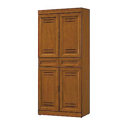 綠活居 摩西現代2.8尺四門二抽高鞋櫃/玄關櫃-78x39x180cm免組