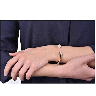 CALVIN KLEIN Brilliant 系列閃耀香檳金手環-M