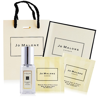 Jo Malone 經典洗潤香氛禮盒C組[黑莓子香水9ml+英國橡樹潔膚露+英國梨潤膚乳