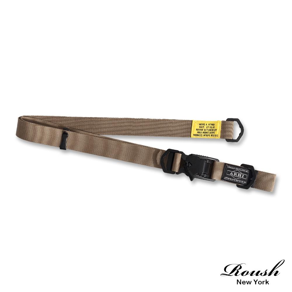 Roush (情侶款)特殊金屬磁扣帆布腰帶(4色)
