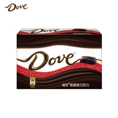 Dove德芙 香濃黑巧克力96g
