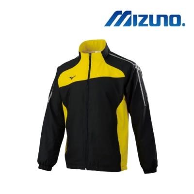 Mizuno美津濃 男平織運動外套 黑x黃 32TC958509