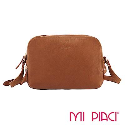 MI PIACI革物心語-VICKY系列全牛皮斜背包-駝色 1283505