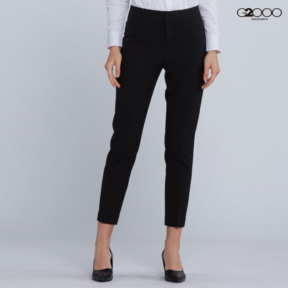 G2000時尚商務平紋套裝褲-黑色