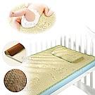 兒童 棉麻編織 藤涼蓆 嬰兒床 涼蓆 涼墊 120*60CM-贈收納袋 kiret
