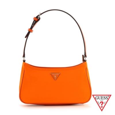 GUESS-女包-氣質簡約純色輕便單肩包-橘 原價2290