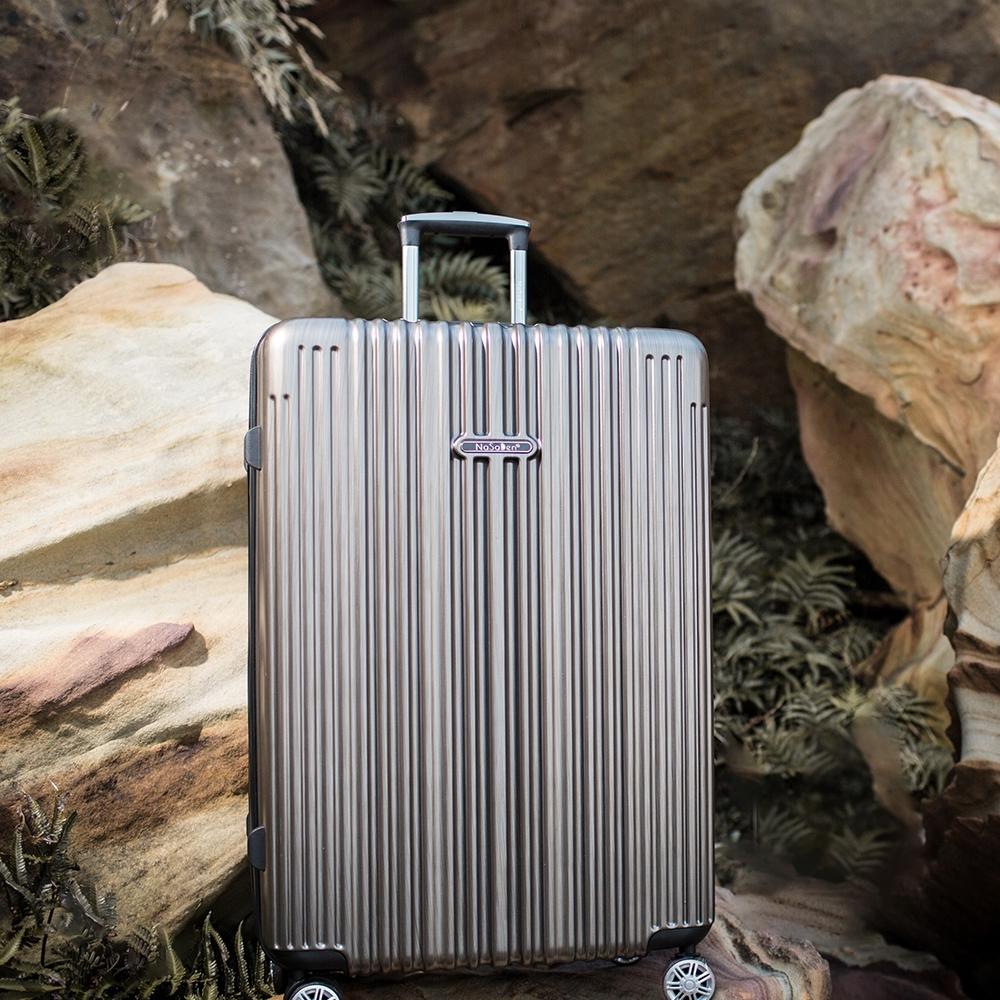 【NaSaDen 納莎登】新無憂髮絲紋防刮系列TSA海關鎖29吋拉鍊行李箱(米羅鈦)