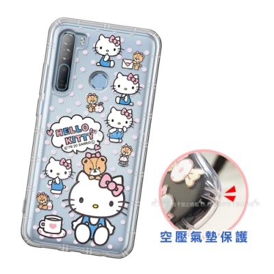 三麗鷗授權 Hello Kitty凱蒂貓 HTC Desire 20 Pro 愛心空壓手機殼(咖啡杯)