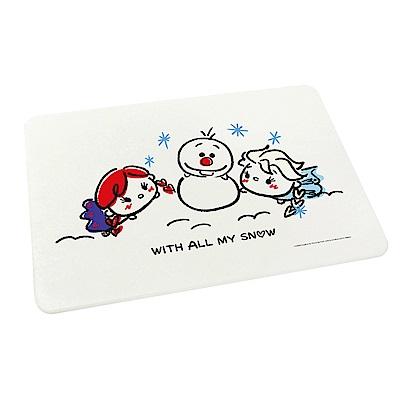 Tsum Tsum超吸水珪藻土地墊-雪中玩耍