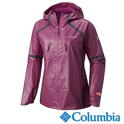 Columbia 哥倫比亞 女-鈦Outdry極輕量防水外套-桃紅URR01630