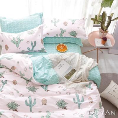 DUYAN竹漾 100%精梳純棉 單人三件式舖棉兩用被床包組-春之奇蹟 台灣製