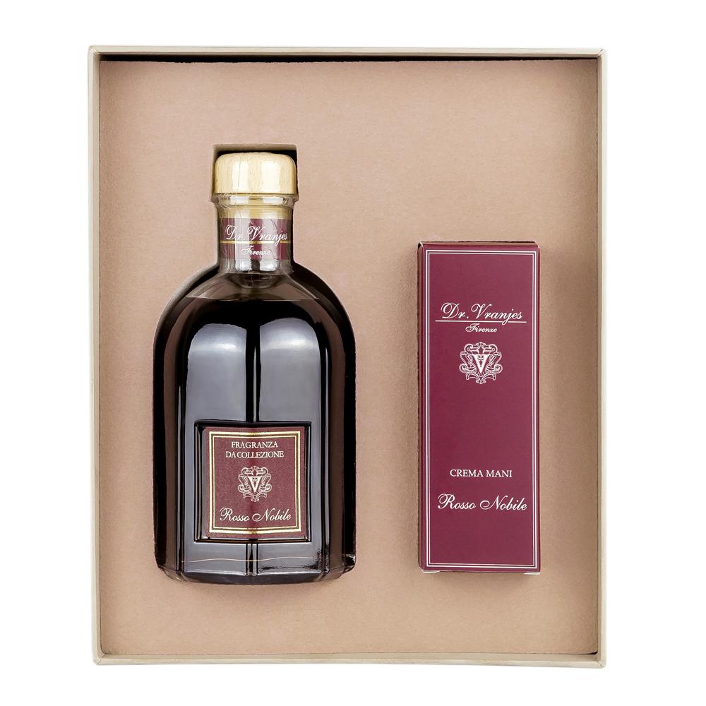 義大利翡冷翠香氛-擴香+護手霜禮盒-貴族紅酒