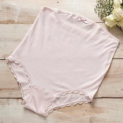華歌爾-媽媽褲 高腰 M-LL 三角褲(粉)包覆腰腹-親膚貼身