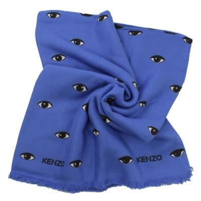 KENZO 眼睛圖樣大方巾/絲巾(藍)