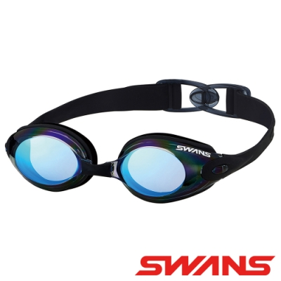 【SWANS 日本】光學通用型泳鏡(SWB-1M藍/防霧鍍膜/抗UV/矽膠軟墊)