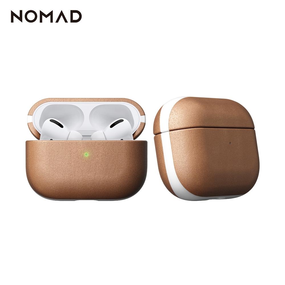 美國NOMADxHORWEEN AirPods Pro專用皮革保護收納盒-自然原色