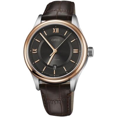 Oris 豪利時 Classic 文化系列品味時尚機械錶-42mm