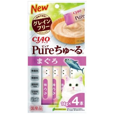 CIAO PURE 啾嚕肉泥鮪魚(14gx4入/包)三包入組合