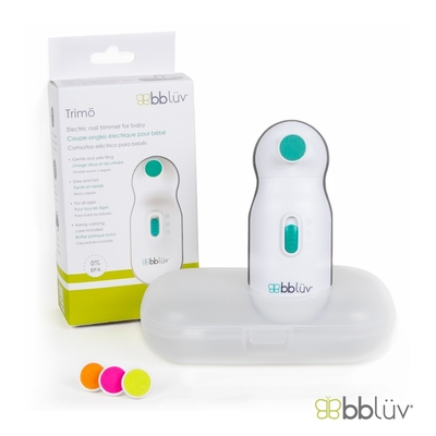 【bbluv】電動安全修甲組 (附 4 階段替換磨盤 ) | 極靜、便攜、輕量舒適握把