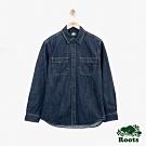 男裝Roots 單寧長袖襯衫-藍色