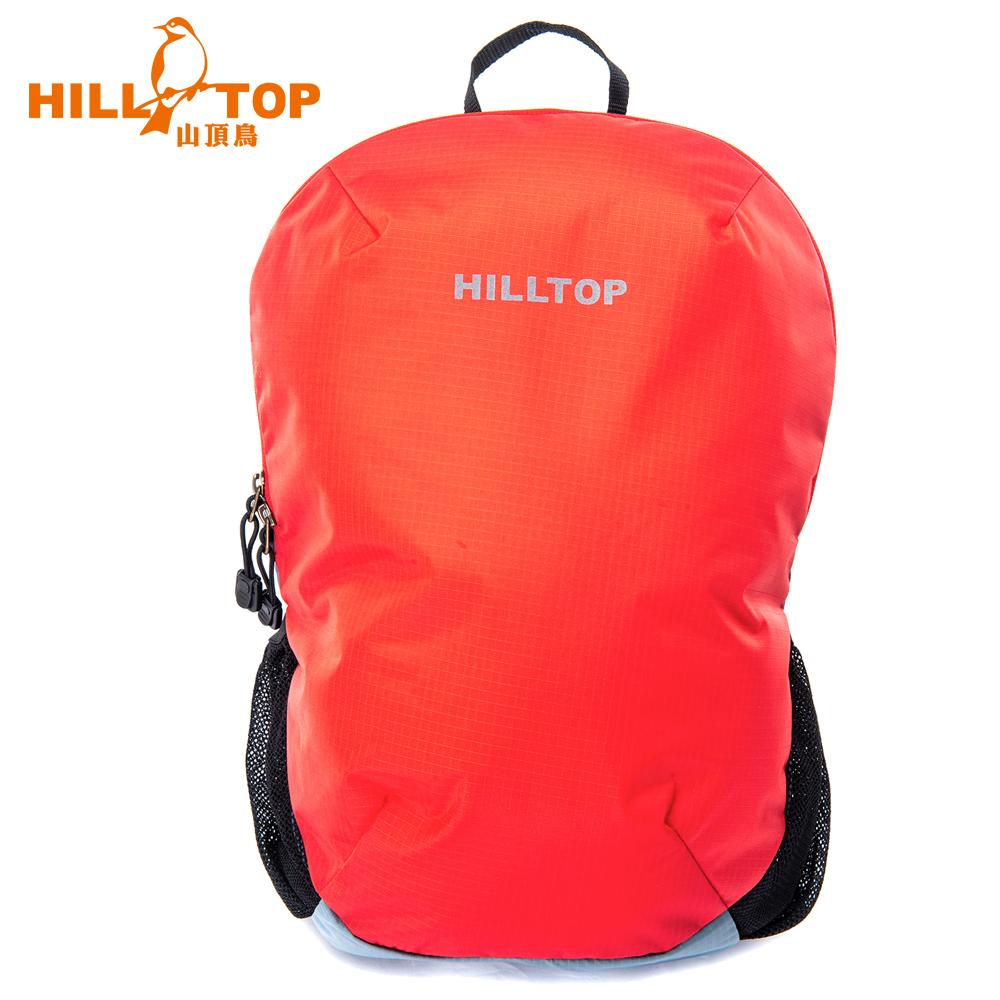 【hilltop山頂鳥】18L休閒背包T28X12紅灰