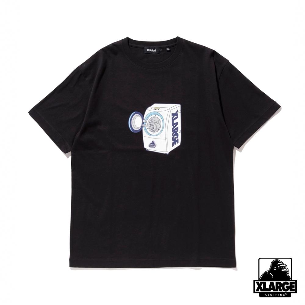 XLARGE S/S TEE WASHING MACHINE短袖T恤-黑