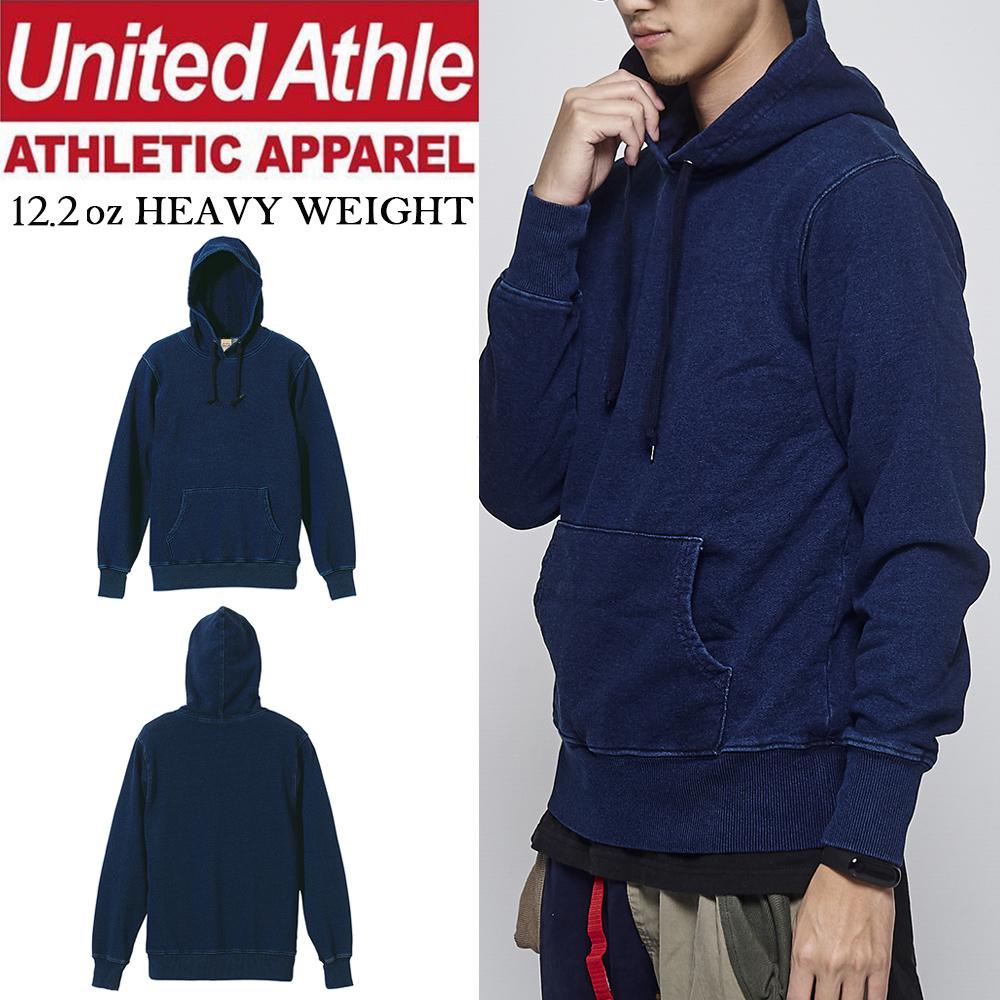 日本United Athle 12.2oz丹寧連帽T UA高磅denim