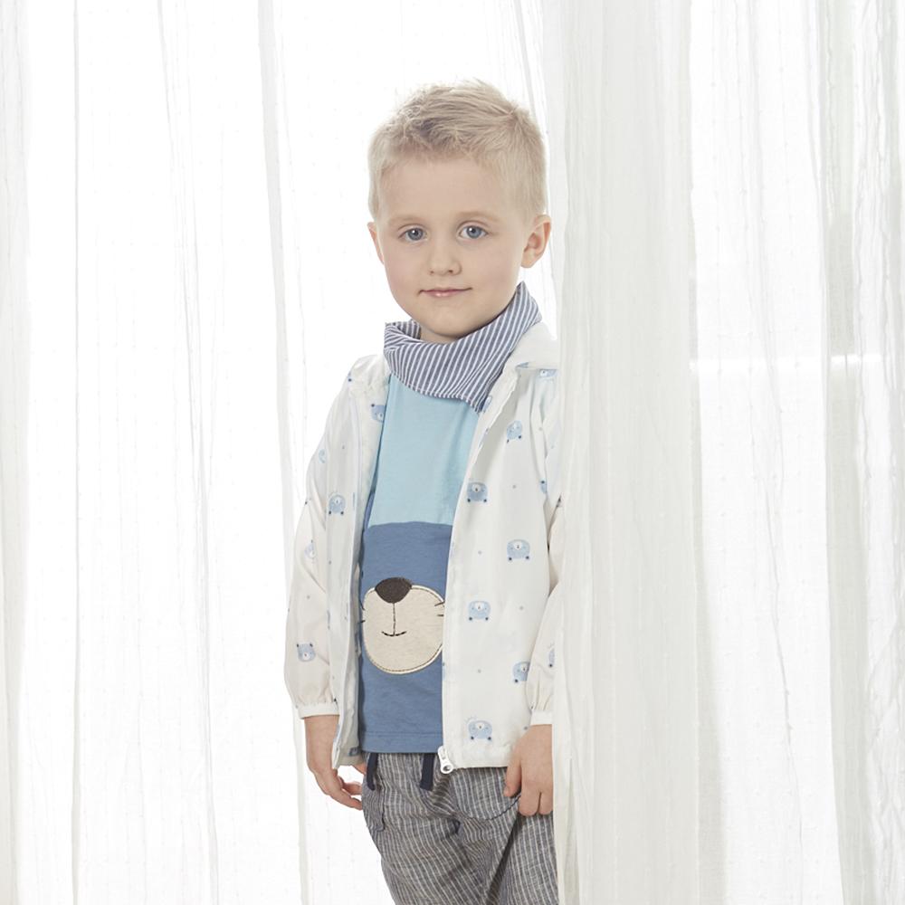 PIPPY 小熊造型風衣外套-米白