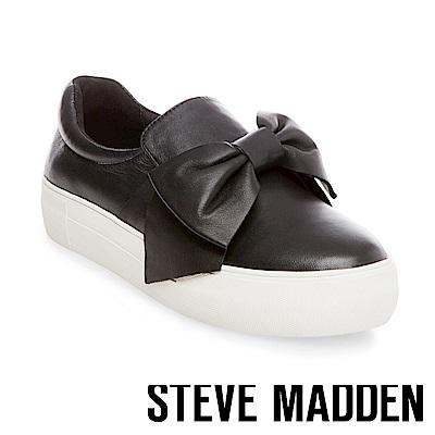 STEVE MADDEN-EMPIRE-BLACK 羊皮厚底懶人鞋-黑色