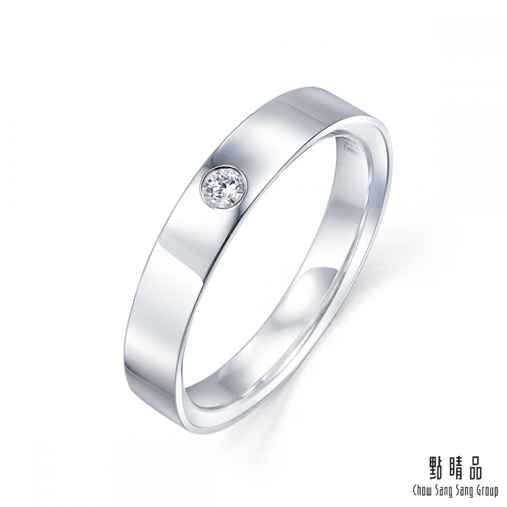 點睛品 Promessa 深情承諾 0.08克拉鑽石戒指-男戒