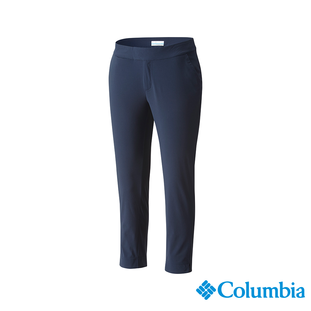 Columbia 哥倫比亞 女款-UPF50 防潑長褲-深藍 UFK00040NY