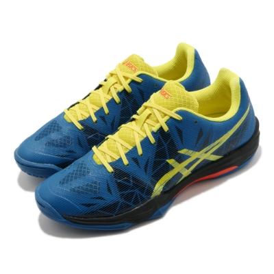 Asics 羽球鞋 Gel Fastball 3 運動 男鞋 亞瑟士 膠底 回彈 緩衝 高抓地力 藍 黃 E712N401