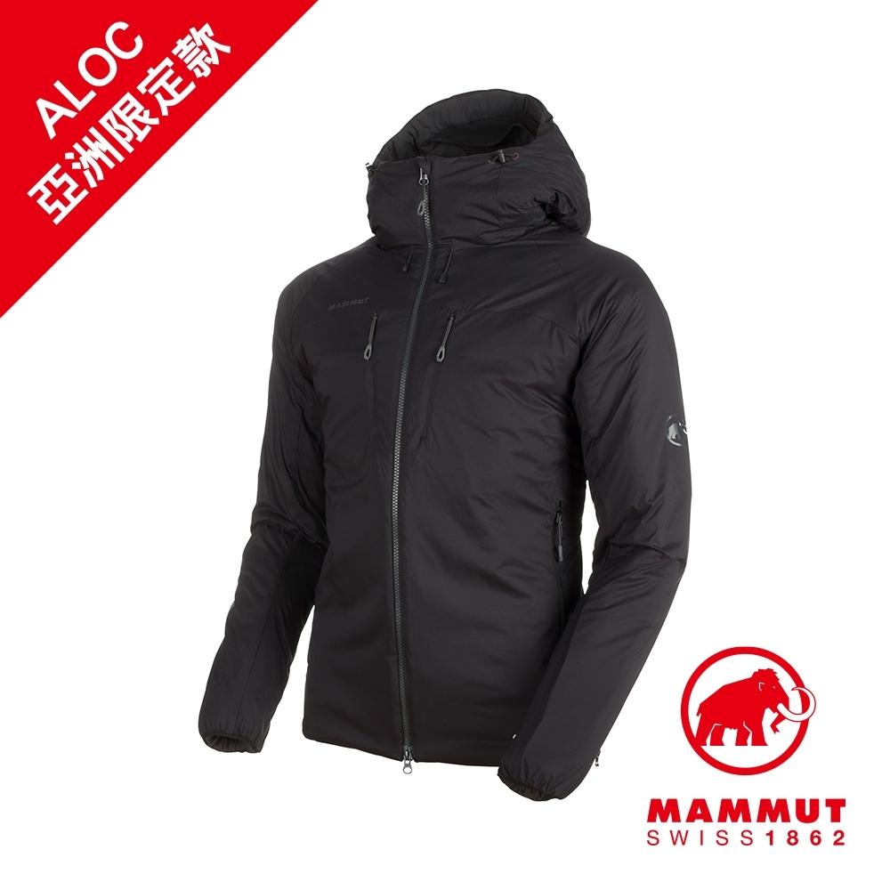 【Mammut 長毛象】Rime IN Flex Hooded Jacket AF Men 彈性保暖連帽化纖外套 黑色 男款 #1013-00750