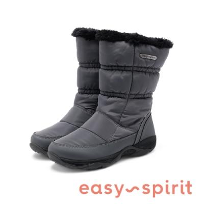 Easy Spirit-seELEMENT2 簡約時尚保暖毛感拉鍊運動雪靴-灰色