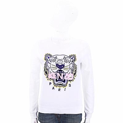 KENZO Embroidered Tiger 刺繡虎頭白色棉質運動衫