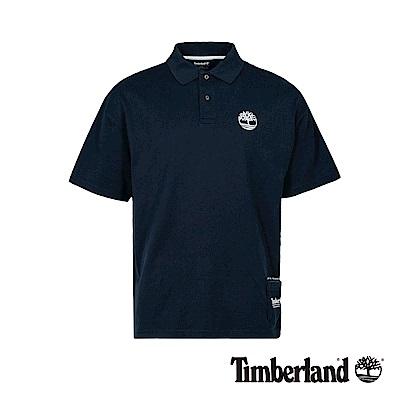 Timberland 男款深藍寶石復古防紫外線抗菌寬鬆短袖POLO衫|A1XFW