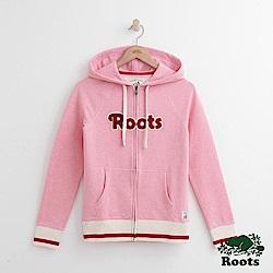 Roots 女裝- 溫馨佳節輕刷毛連帽外套- 粉