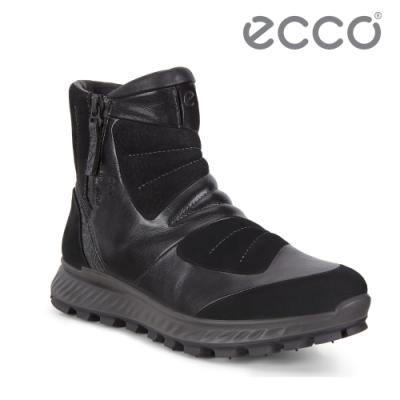 ECCO EXOSTRIKE 時尚拼接戶外保暖短靴 女-黑
