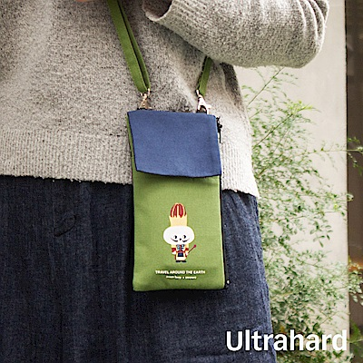 Ultrahard 月見兔斜揹手機包-胡桃鉗(綠藍)