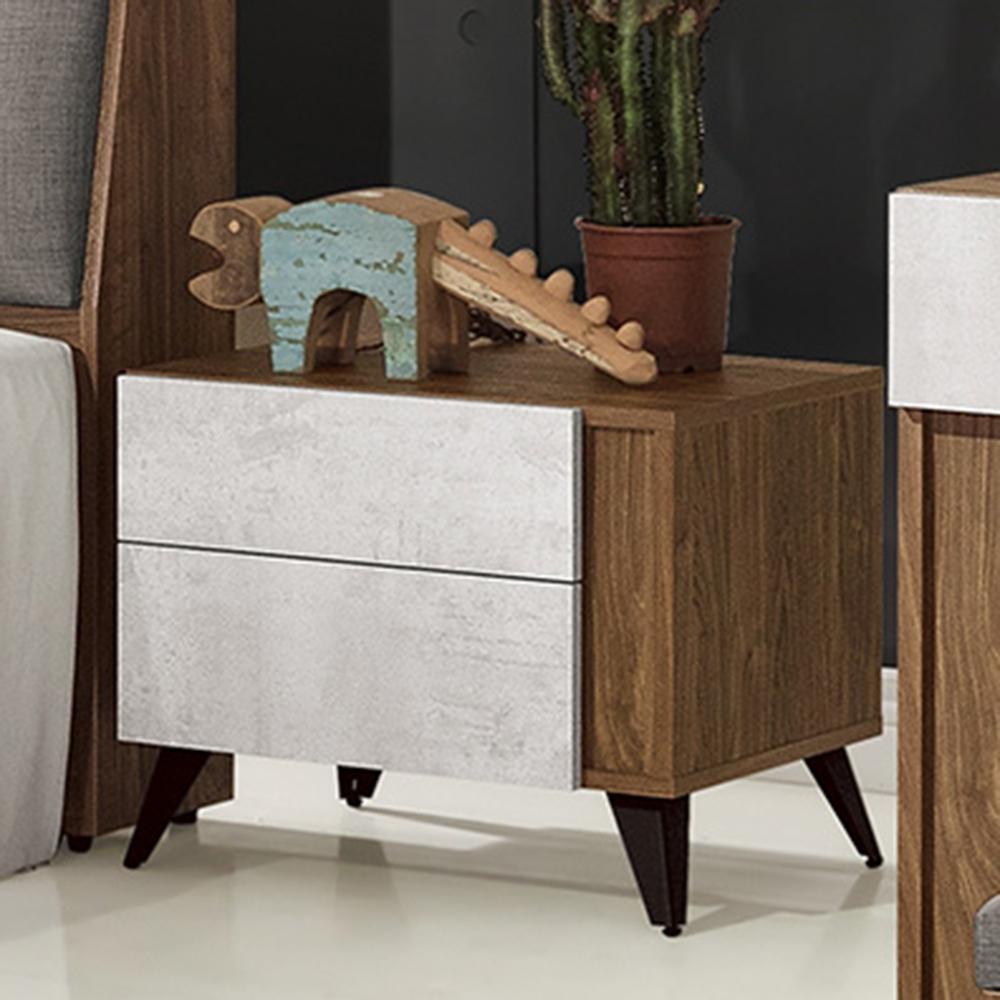 D&T 德泰傢俱 DINO清水模風格床頭櫃-54x42x46cm