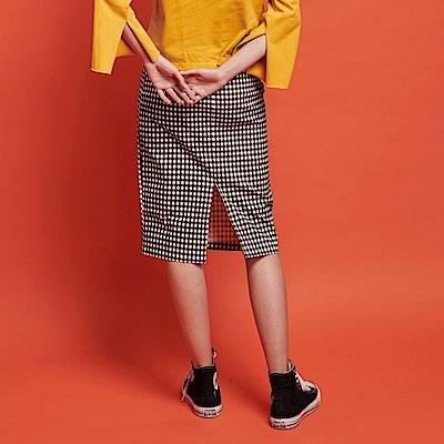 CACO-顯瘦格紋鉛筆裙-女【RSH058】