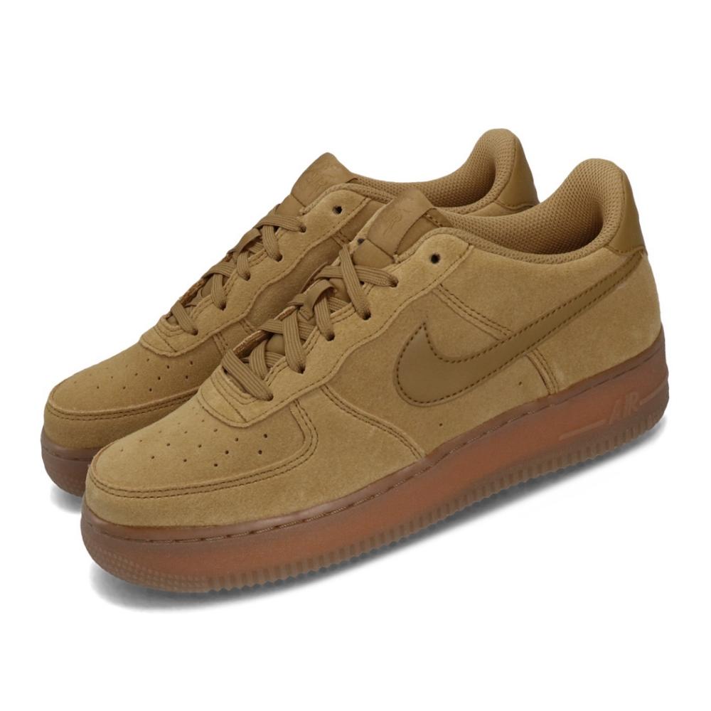 Nike 休閒鞋 Air Force 1 LV8 運動 女鞋 經典款 AF1 麂皮 簡約 膠底 穿搭 大童 棕 BQ5485700