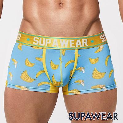 SUPAWEAR 美味系列超彈性型男四角內褲(香蕉-淺藍)