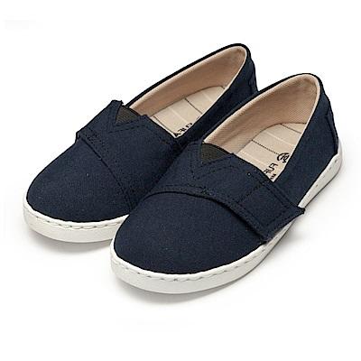 BuyGlasses 可愛魔鬼氈兒童休閒鞋-藍